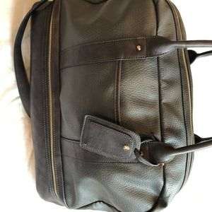Leather like weekender bag